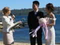 wedding at gibsons beach reserve