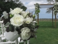 wedding canopy and flowers