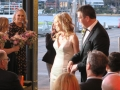 wedding ceremony at Cafe Morso