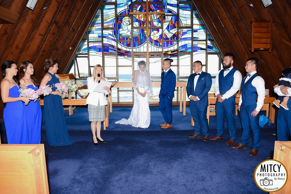 wedding at Little Bay Chapel, Sydney Marriage Celebrant
