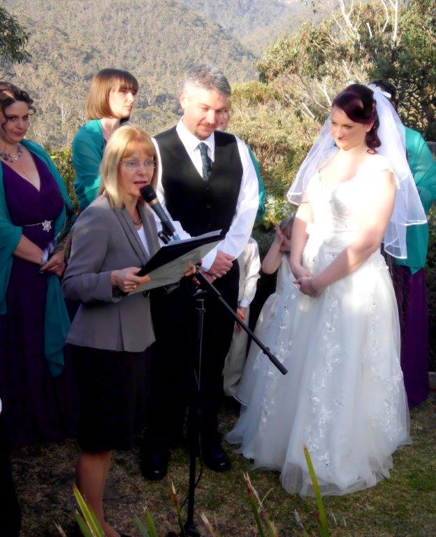 wedding at the Blue Mountains