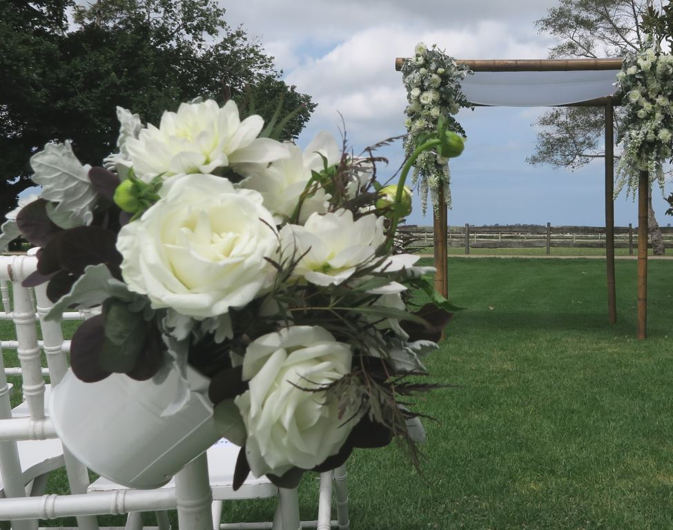 wedding canopy and flowers, Sydney Marriage Celebrant