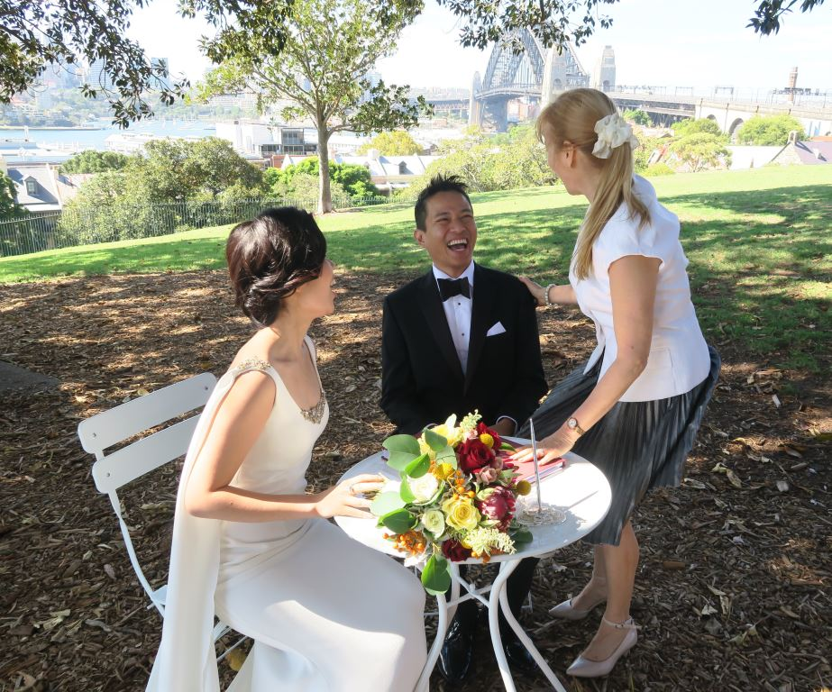 wedding celebrant Observatory Hill,