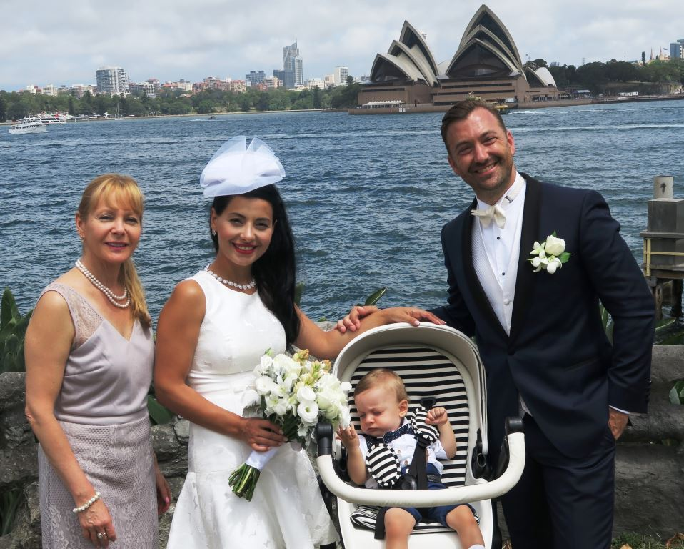 wedding ceremony at Copes Lookout Kirribilli, Sydney