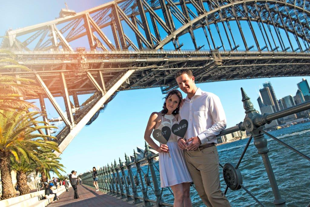 wedding ceremony celebrant Sydney under the harbour bridge
