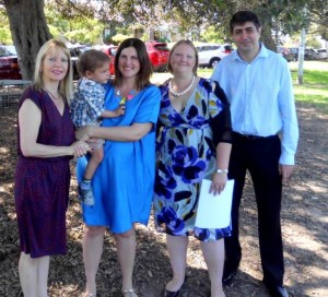 Enmore Park marriage celebrant naming ceremony Marrickville